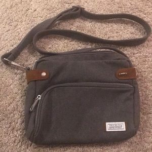 Travelon gray crossbody purse